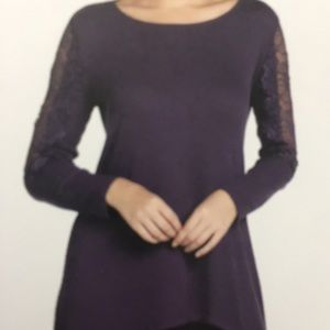 Light purple sweater with mock cold shoulders